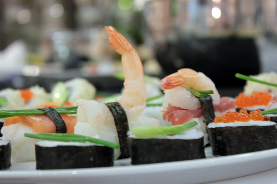 Das Egebnis des Sushi-Workshops